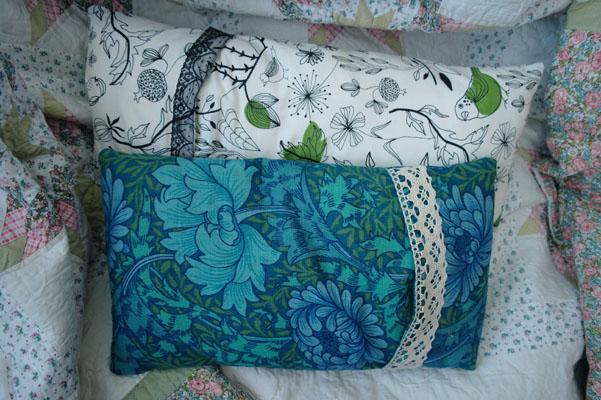Handmade cushion covers, William Morris print fabric