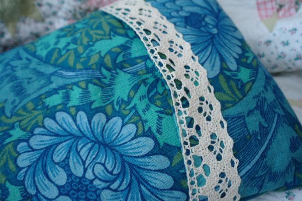 William Morris print fabric cushion cover