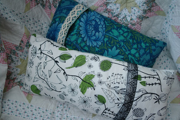 Handmade cuchion covers, Ikea fabric and William Morris print fabric