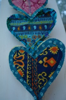Close up, Heart motifs, Heart wall hanging