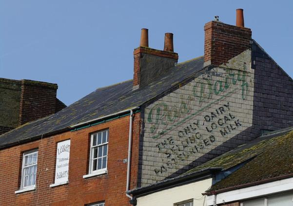 Old painted advert, Bridport, Dorset.