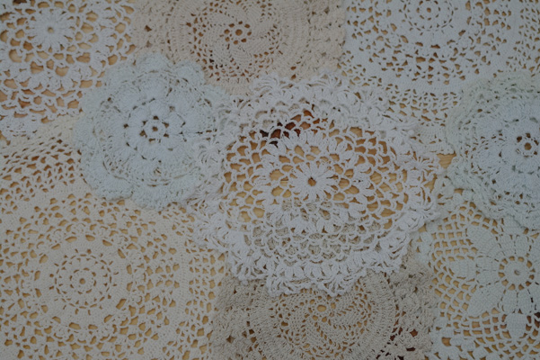 A lot of doilies