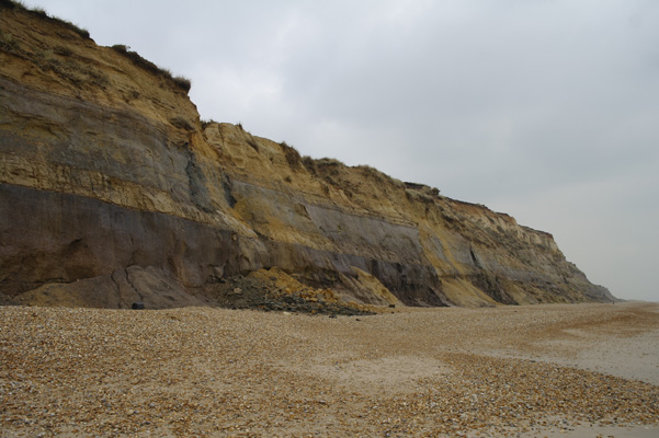 Little land slips at Hengistbury Head.