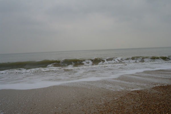 Waves at Henigstbury Head.
