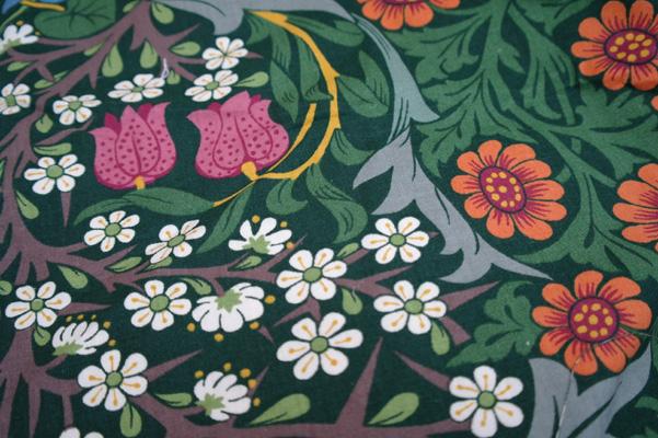 William Morris print fabric.