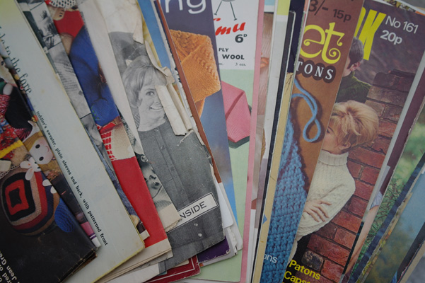 Vintage knitting and crochet patterns.