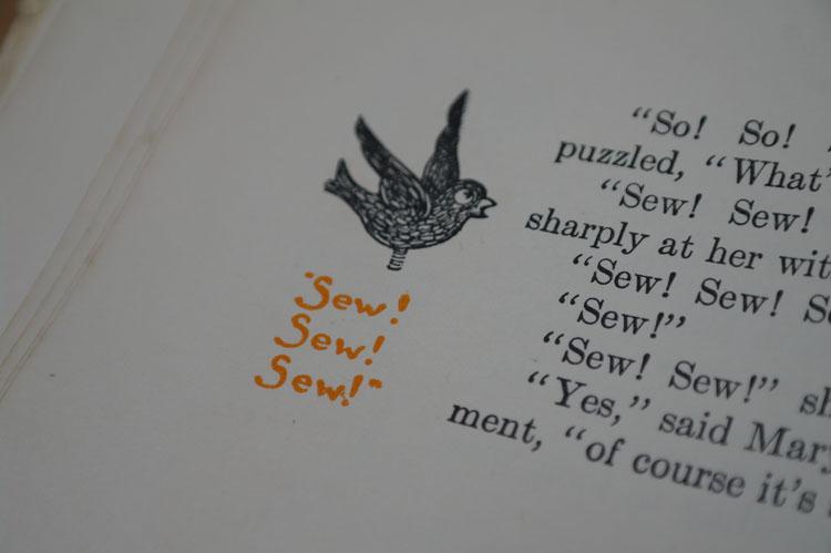 Little vintage book illustration.