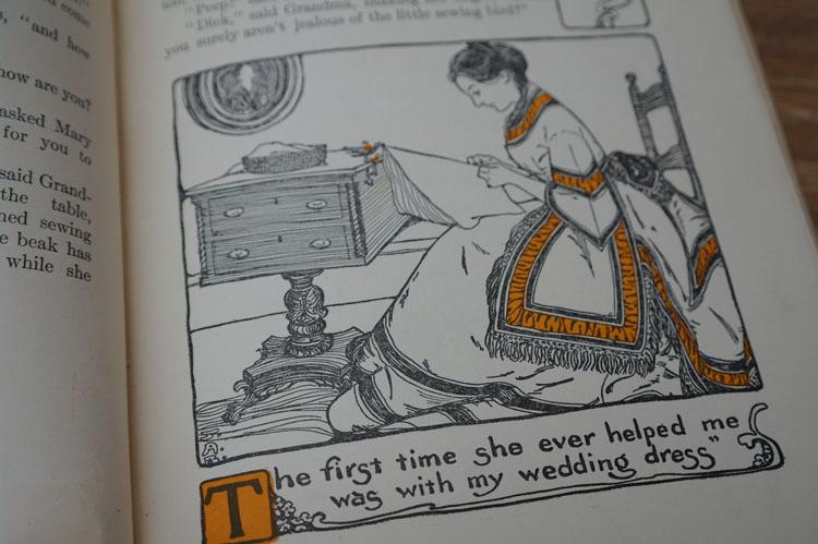 Vintage book illustration.