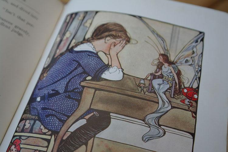 Vintage sewing book illustration.