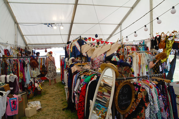 The vintage tent at Larmer Tree.