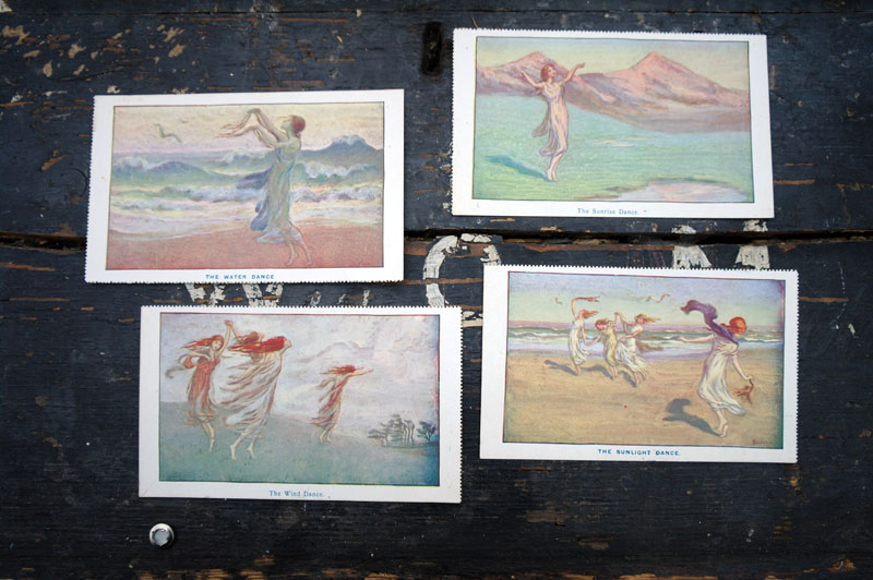 Vintage postcards. Ethereal, mystical, magical. The water dance. The sunlight dance. The wind dance.