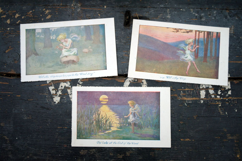Ethereal and mystical vintage postcards.