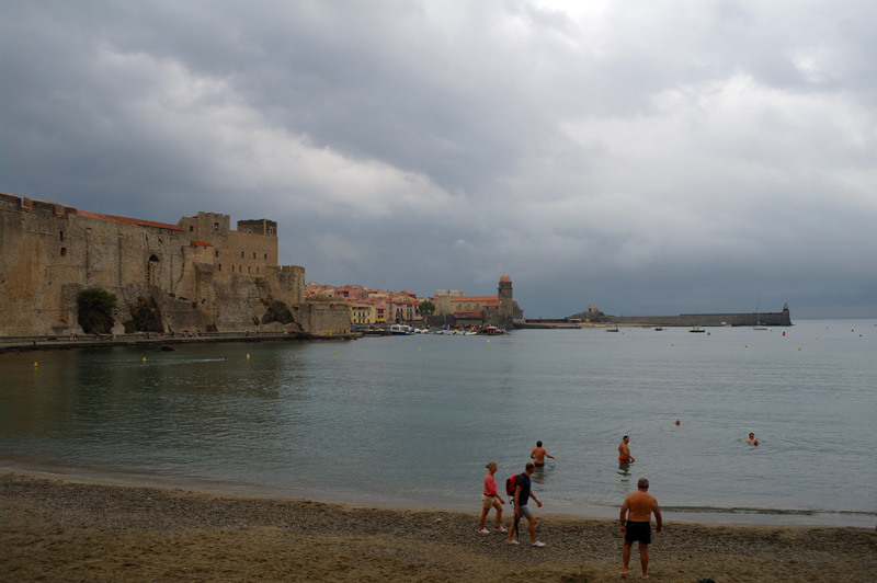 Overcast sky over Collioure.