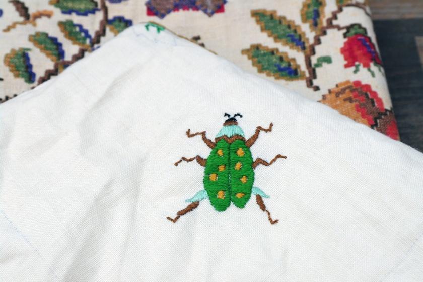 Vintage embroidered beetle.