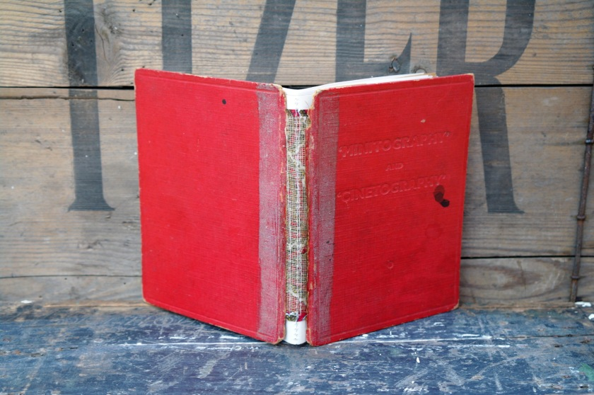 Vintage book cover, upcycled into a notebook.