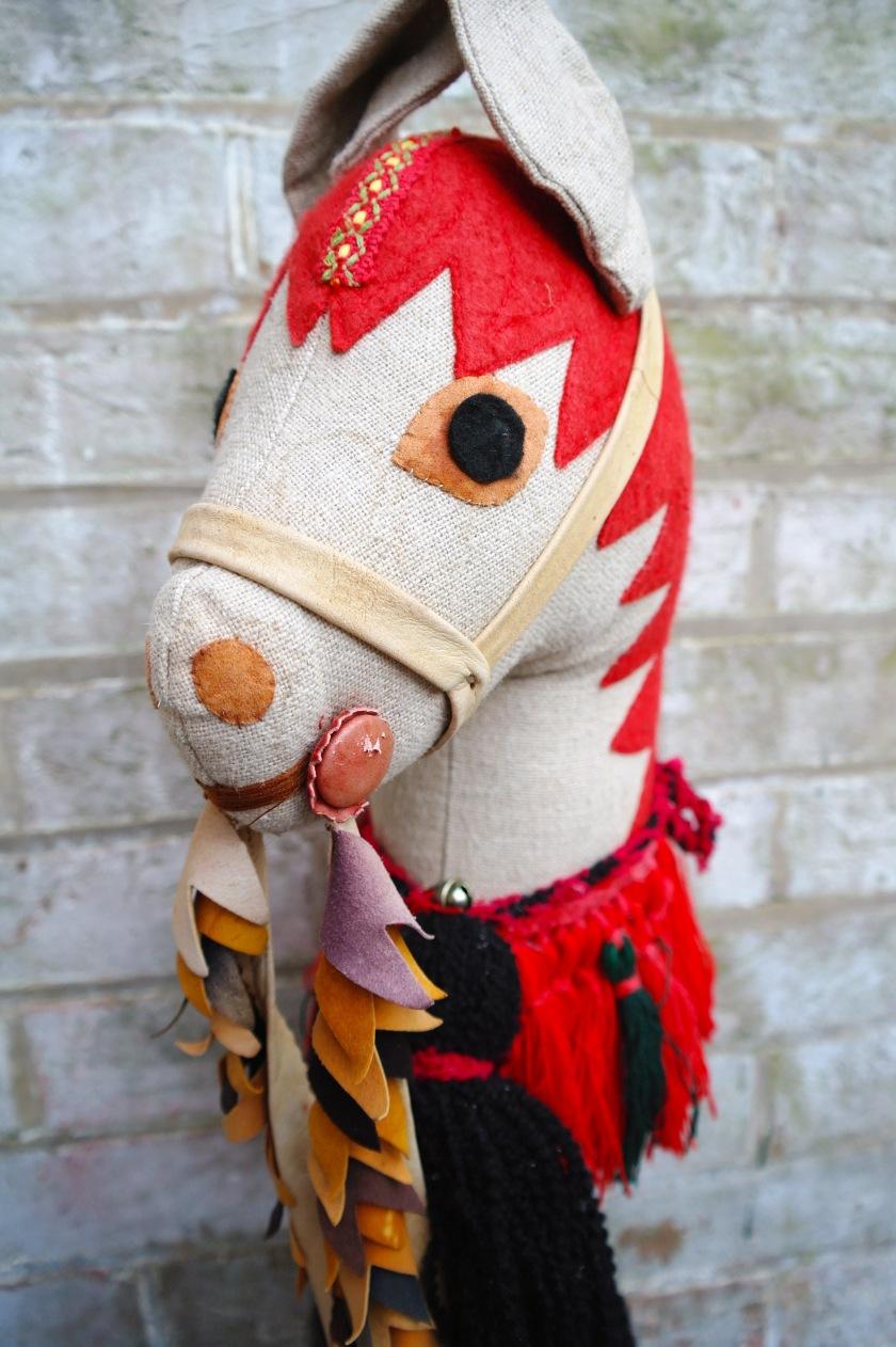 Vintage handmade hobby horse toy.
