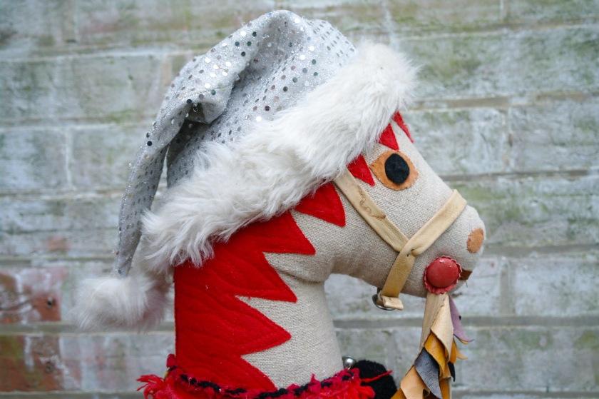 Festive Christmas hobby horse.