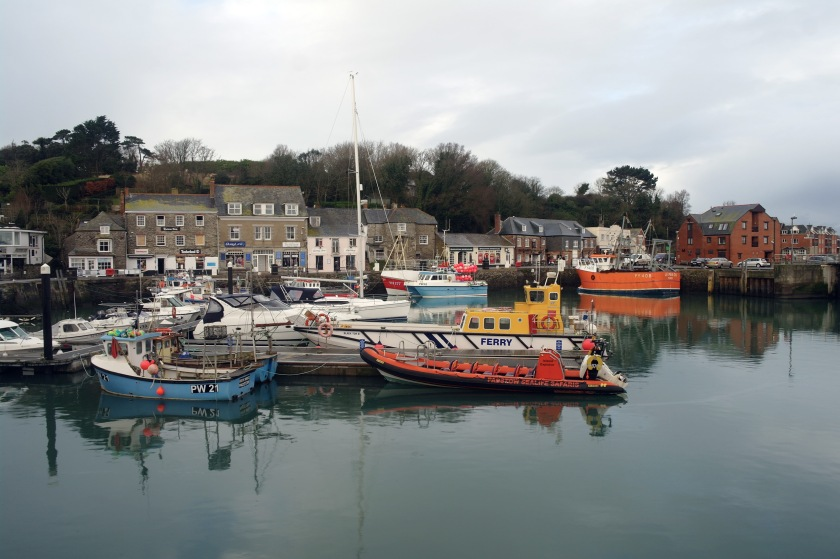 Boats in Padstow harbour, Corwnall.